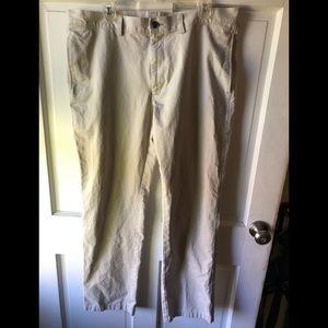 Flat front khakis